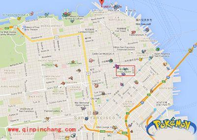 Pokemon GO旧金山精灵分布位置坐标图解