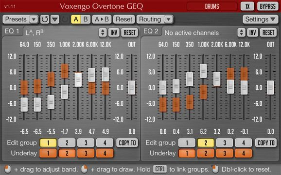 Voxengo Overtone GEQ(VST) For Mac 1.9