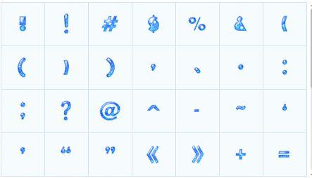 幻彩数字标点符号表情 绿色版 www.qinpinchang.com
